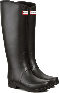 Wellingtons HUNTER Sandhurst Nylon-Lac Black Mat